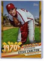 Steve Carlton 2020 Topps Decades Best 5x7 Gold #DB-36 /10 Phillies