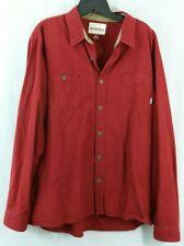 SIMMS men's XL Red Button Flannel Shirt Chamois Cloth Fishing Camp Fish Shirt