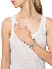 Bracciale Argento Due Collana Perla Fiore Sottile Quadrifoglio Vintage Originale