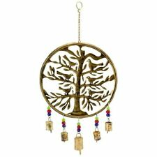 Birds of Paradise Metal Wind Chime colorful beads & bells - Indoor/Outdoor 123