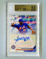 2016 Bowman's Best Refractors AUTO Amed Rosario BGS 9.5 w/ 10 New York Mets HOT