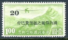 China 1943 Japanese Occupation Central China $1.00 Airmail WATERMARKED MNH P906