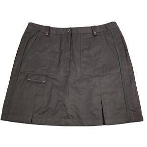 DKNY GOLF By Jamie Sadock Nylon Polyester Skort Size 14 Gray Pockets