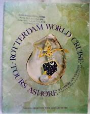 HOLLAND AMERICA LINE SHIP SS ROTTERDAM WORLD CRUISE ADVERTISING BROCHURE 1965