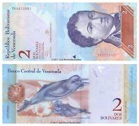 Venezuela 2 Bolivares 2013 P-88f Banknotes UNC