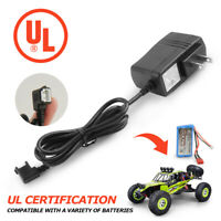 RC Cars Battery Charger Adapter US plug UL Stadard for Wltoys 12428 12423 12404