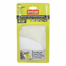 "Ryobi A38BB11 4"" - 7"" Microfiber and Synthetic Fleece Buffing Bonnet Set of 2"