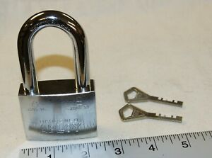 Abloy 3085-25 3086-50 padlock with 2 new keys, high security - New