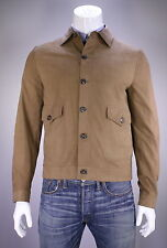 NWT New * BRIONI * 2016 Light Brown Suede Leather Bomber Jacket Coat 40/Medium