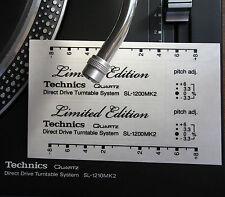 2 x Technics decal sticker SL1200/1210 LTD LIMITED EDITION-black,silver,gold,red