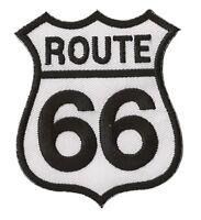 Patche écusson Route 66 blanc thermocollant transfert patch