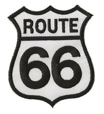 Patche écusson Route 66 blanc thermocollant transfert patch
