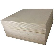 """1/8"""" X 12"""" X 12"""" Baltic Birch Plywood Great for Laser, Cnc, and Scroll Saw. 45pc"""