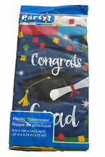 Graduation Cake Party Congrats Grad Plastic Table Cloth Cover Decor Decoration