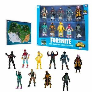 Fortnite Battle Royale The Chapter 1 Collection Action Figures 10 Pack NEW HTF