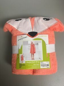 """Jumping Beans """"Willow Fox"""" Hooded Bath/Beach Towel Wrap 100% Cotton - NEW w/Tags"""