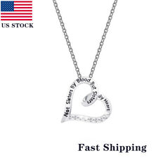 Fashion Woman Necklace Choker Charm Chain Heart Pendant For Sister Gift