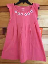 *Nwt Gymboree* Girls Everyday Favorites Pink Pleated Dress Flower Detail Size 4