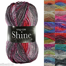 King Cole Shine DK Knitting Yarn with Glitter Metallic Thread For Added Sparkle