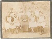 CAB photo Feine Dame mit Dienstmädchen - 1900er