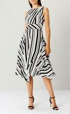 Coast - Adley  Stripe Dress - Black/White - Size 16 (Brand New With Tags)