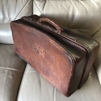Gladstone Bag Antique Case Victorian Brown Leather 19th Century Hold-all Luggage