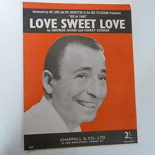 """Foglio CANZONE AMORE SWEET LOVE """"OFFERTA PER LA GLORIA"""", Joe perdita 1959"""