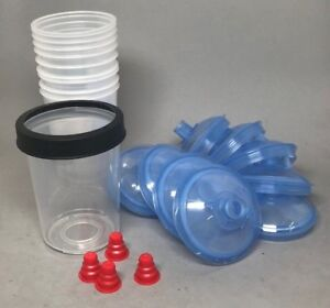 3M PPS  Midi 400cc Cup/collar w Liners/125 micron lids #16112/16312 10 pack