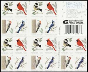 2018 US STAMP - BIRDS IN WINTER  - FOREVER BOOKLET OF 20 - Scott# 5317-5320
