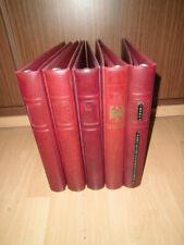 5x Lindner Ringbinder 1102 Y / 1104 Regular rot weinrot 18 Ring-Lochung (1641)