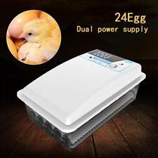 Auto Egg Incubator Hatcher Temperature Control Automatic Turning for 24 Eggs