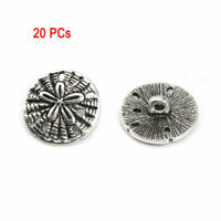 20Pcs DIY Sewing Fastener Flower Pattern Shank Buttons Metal Hand Craft Decor
