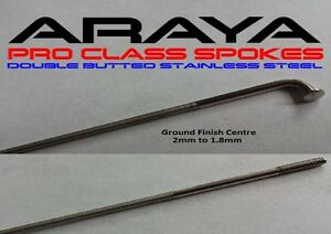 36- Araya ATB Road Spokes St Steel Sp.Offer  BLACK  DOUBLE BUTTED 234mm - 264 mm