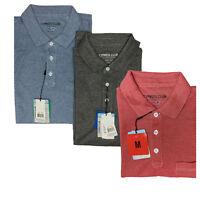 Cypress Club Mens Short Sleeve Collar Cotton Blend Pocket Golf Polo Shirt