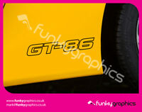 TOYOTA GT86 GT 86 LARGE STICKER, DECAL, GRAPHIC x2 (Choice of colours)