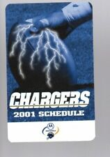 2001 SAN DIEGO CHARGERS POCKET  SCHEDULE