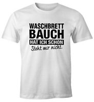 Lustiges Herren T-Shirt Waschbrettbauch hat ich schon steht mir nicht Fun-Shirt