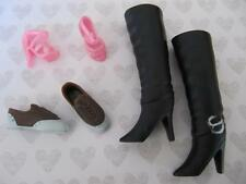 Hannah Montana Miley Cyrus Lilly Friend Doll~Black Boot Brown Tennis Shoes Lot 3