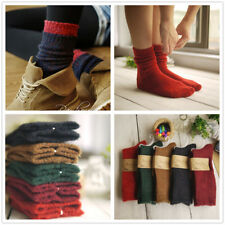 5 Pairs Women Wool Cashmere Thick Warm Casual Multicolor Solid Winter Boot Socks