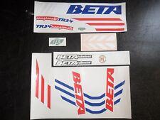 Beta TR34 'Stripey' Aircooled Mono Trials decal kit - adhesive vinyl stickers