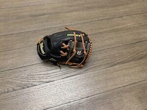 "Wilson A2000 1787 11.75"" I Web Baseball Glove Black Brown"