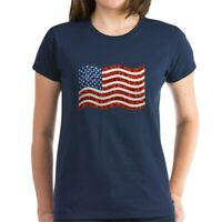 CafePress Sequin American Flag T Shirt Women's Cotton T-Shirt (1711290510)