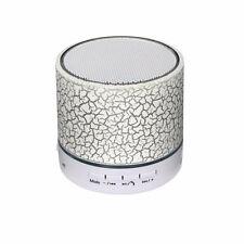 Diseñador de LED Blanco Altavoz Portátil Bluetooth Mini altavoces móvil inalámbrica NUEVO