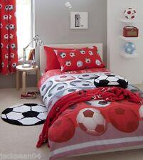 Catherine Lansfield rojo Fútbol ropa de cama cortinas 167-182cm