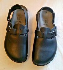 Vguc Birkenstock Black Leather Slingback Mules Womens Size 6