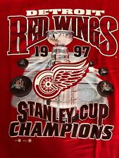 Vintage 1997 Detroit Red Wings Stanley Cup Champion RED,  XL - NEW WITHOUT TAGS