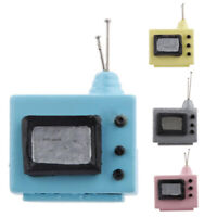 Vintage Dollhouse 1:12 Scale Doll House Miniature Television with Antenna A2Z8