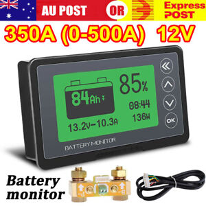 Battery Monitor High Low Voltage Programmable Alarm  500A Compatible 12V Battery