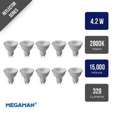 Pack of 10 Megaman 140510 LED GU10 PAR16 Lamp 4.2 Watt 35 Degree 2800K Warm Whit