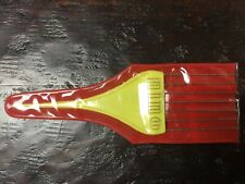 Vintage Nino Yellow Handled Hair Pick With Plastic Poouch
